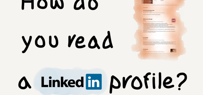 How do you read a LINKEDIN profile